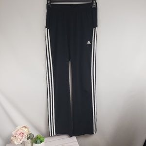 Adidas Black 3 Stripe Track Pants